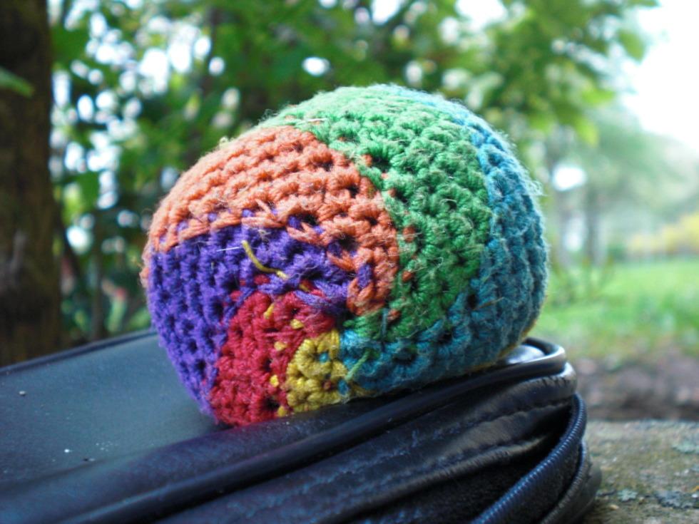 Colorful footbag