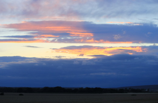 Sundown near Goslar
