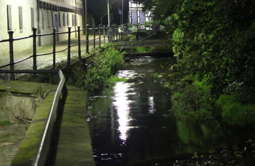 Abzucht in Goslar at night