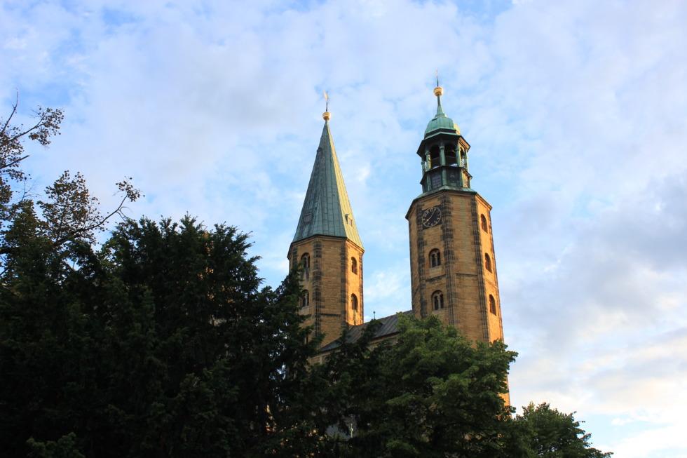 Towers of Marktkirche in Goslar