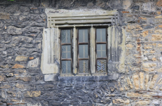 Old window in stonehouse