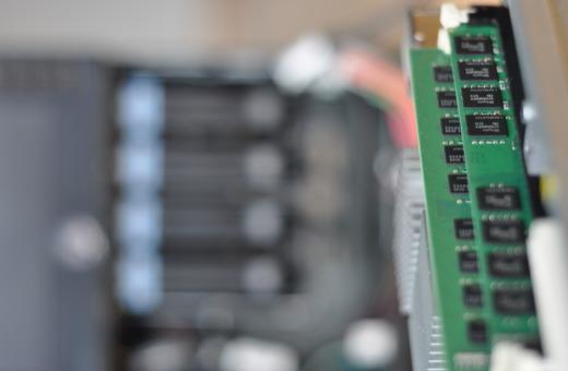 Server RAM in front of server
