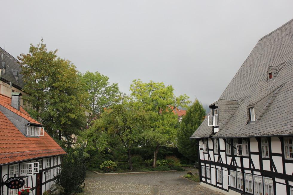 Großes heiliges Kreuz on a rainy day