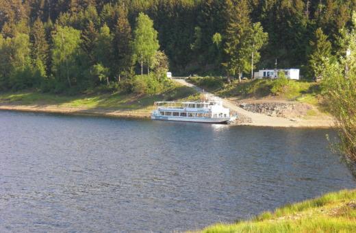 MS AquaMarin on Okerstausee reservoir