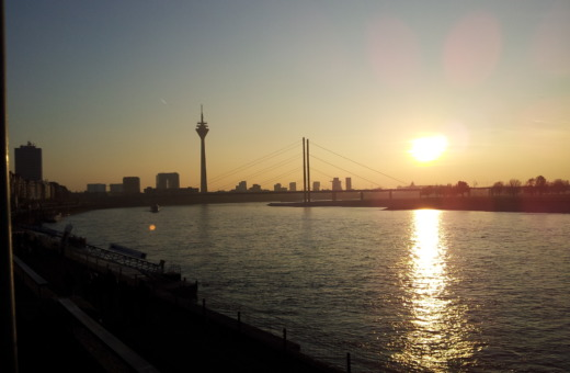 Skyline sunset of Düsseldorf