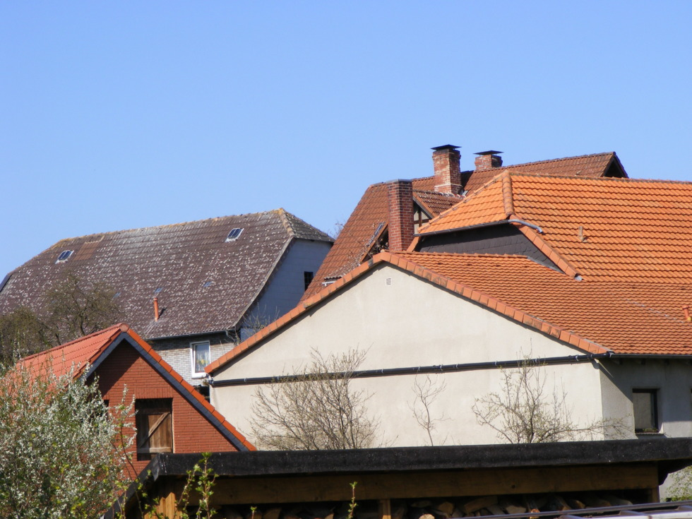 Variety of German tiled roofs