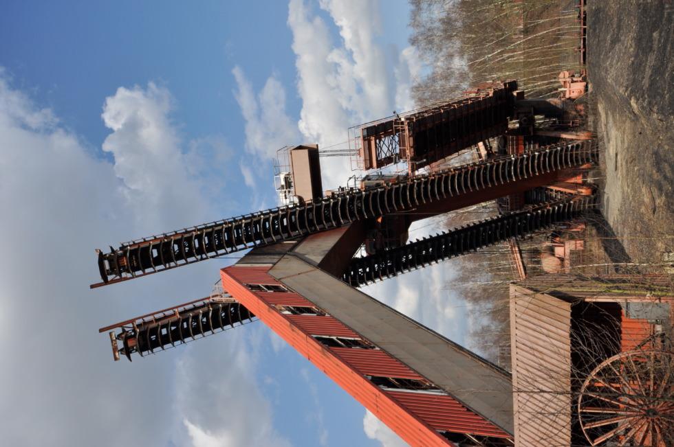 Old conveyor at Zeche Zollverein