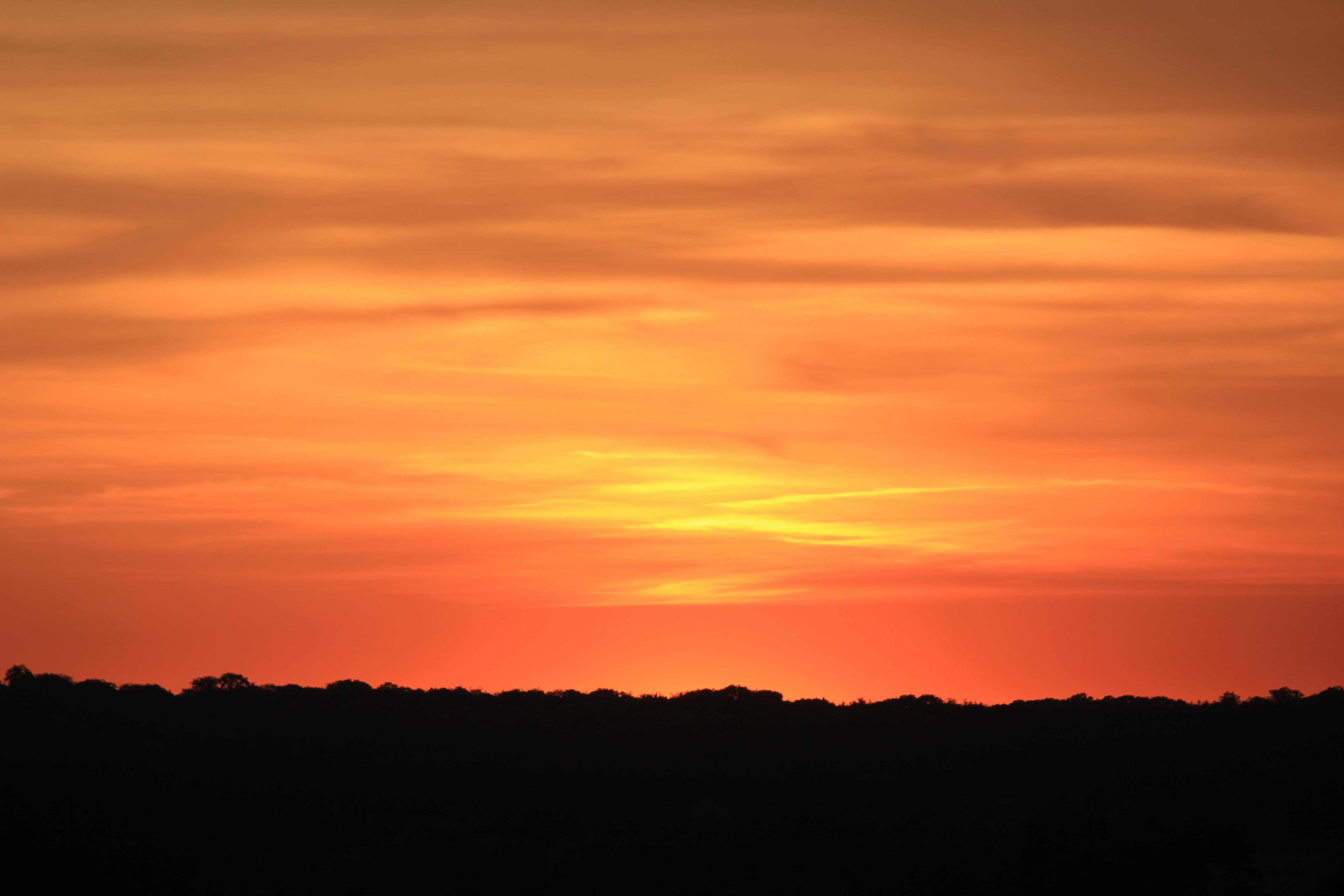 Sundown At Horizon Cc0 Photo