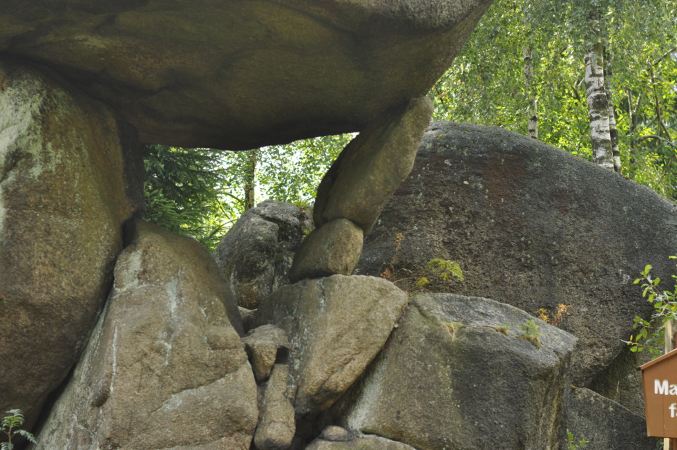 Fragile rock-construction - Mausefalle in the harz