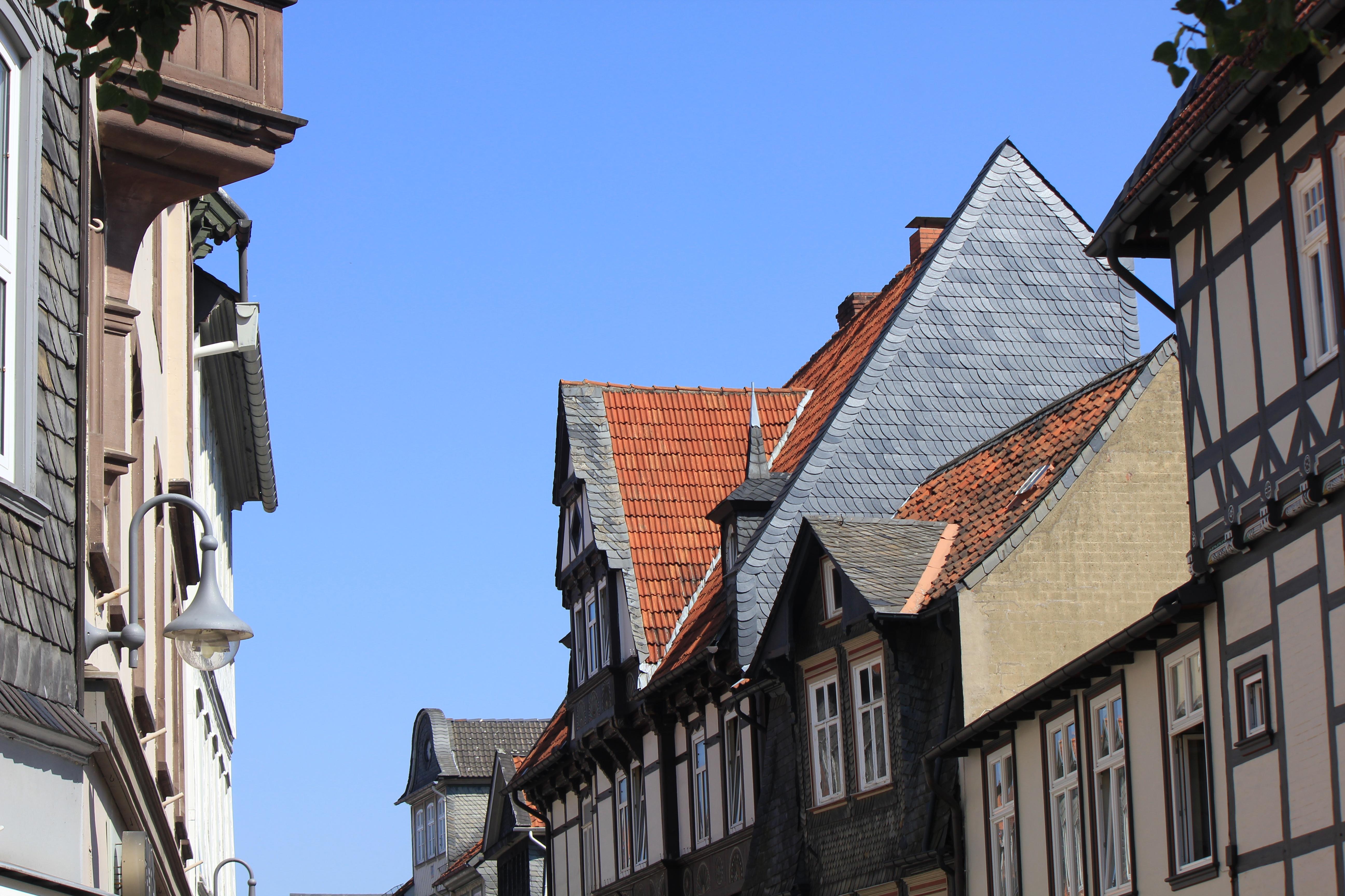 half timbered houses in goslar. Black Bedroom Furniture Sets. Home Design Ideas
