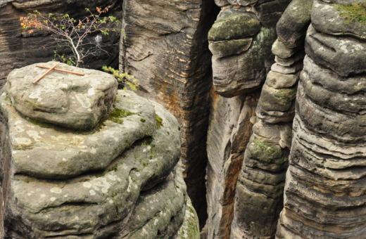 Stone piles at Český ráj