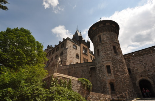 Wall and towers of castle Wernigerode