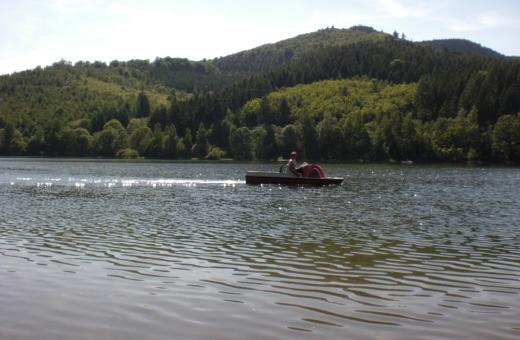 Paddleboat on Granetalsperre reservoir