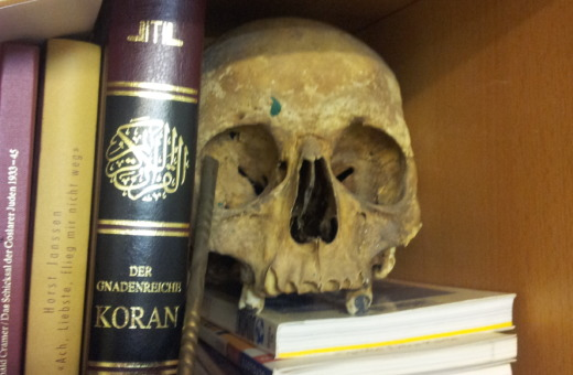 Skull and other relics from an artists atelier No.2