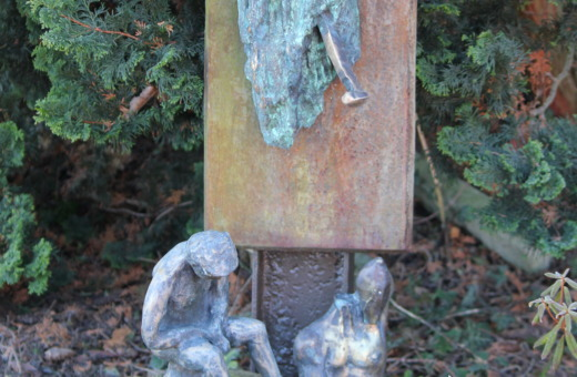 Mournful art in grandpa's garden