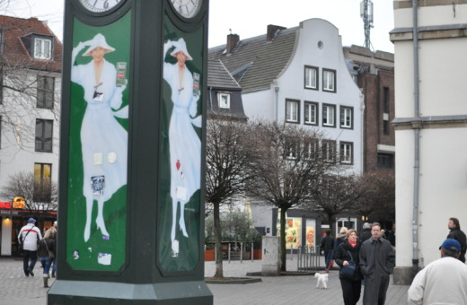 Old Persil advertising kiosk in Düsseldorf