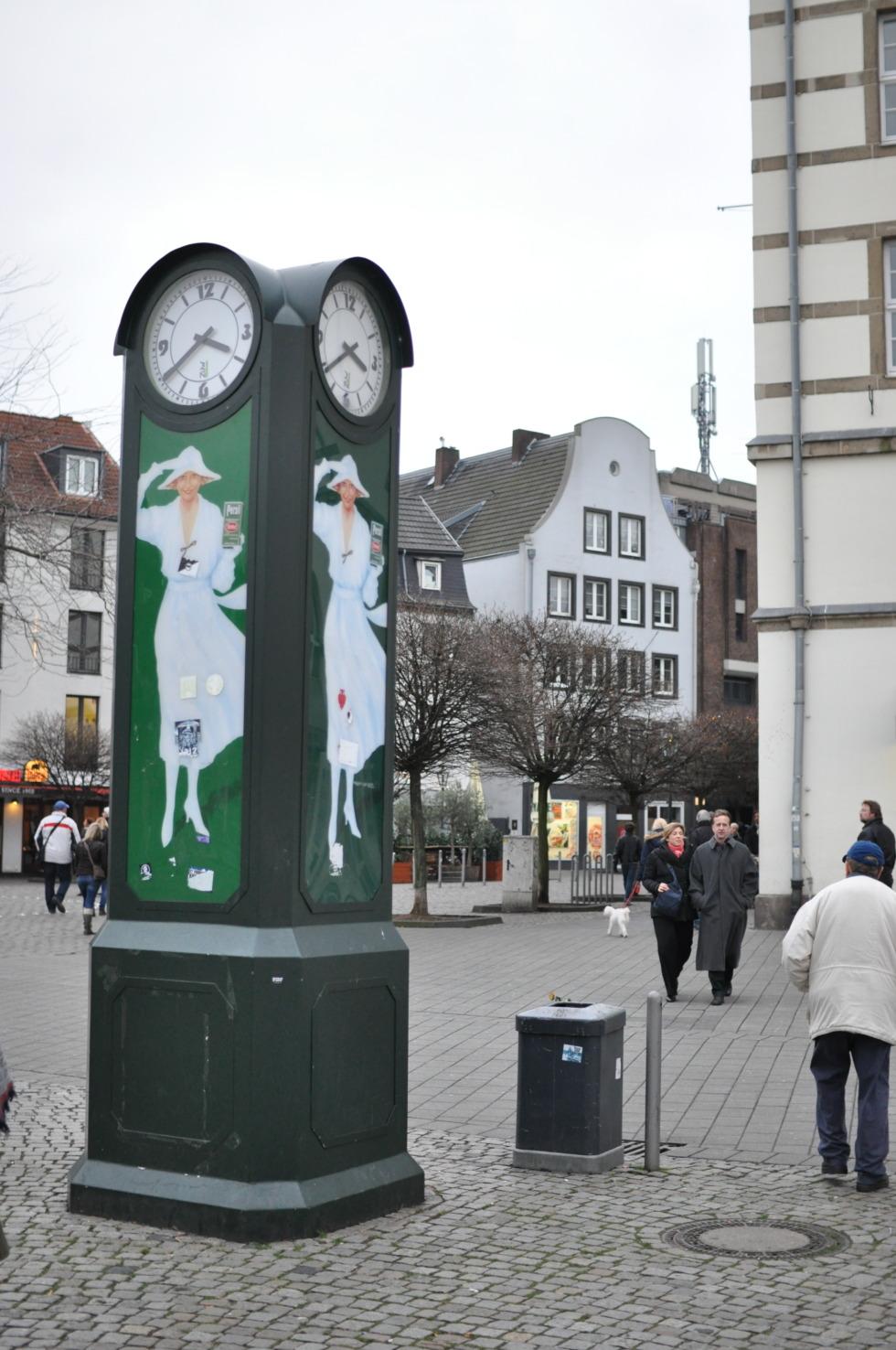 Old Persil advertising kiosk in Düsseldorf