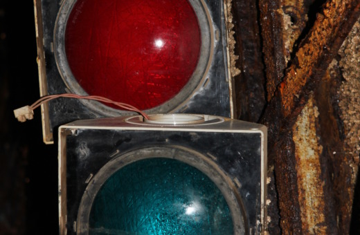 Old traffic light in mines of Rammelsberg