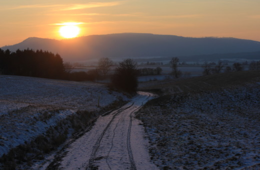 Sundown over the harz mountains