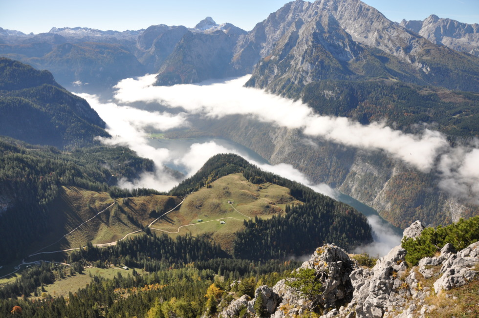 View from Jenner on to the Königssee