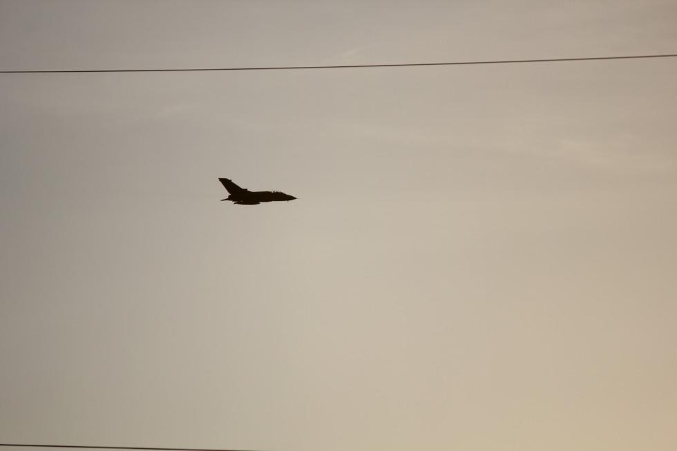 Jet fighter in the german sky