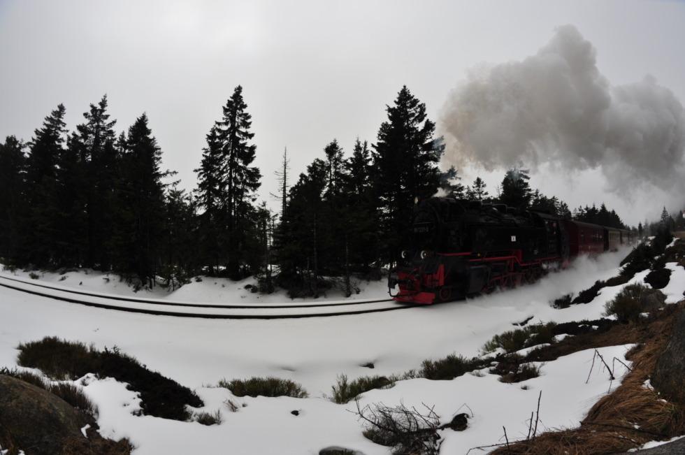 Harzer Brockenbahn on Brocken