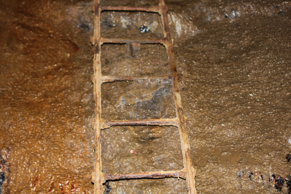 Old rusty ladder in Rammelsberg mine