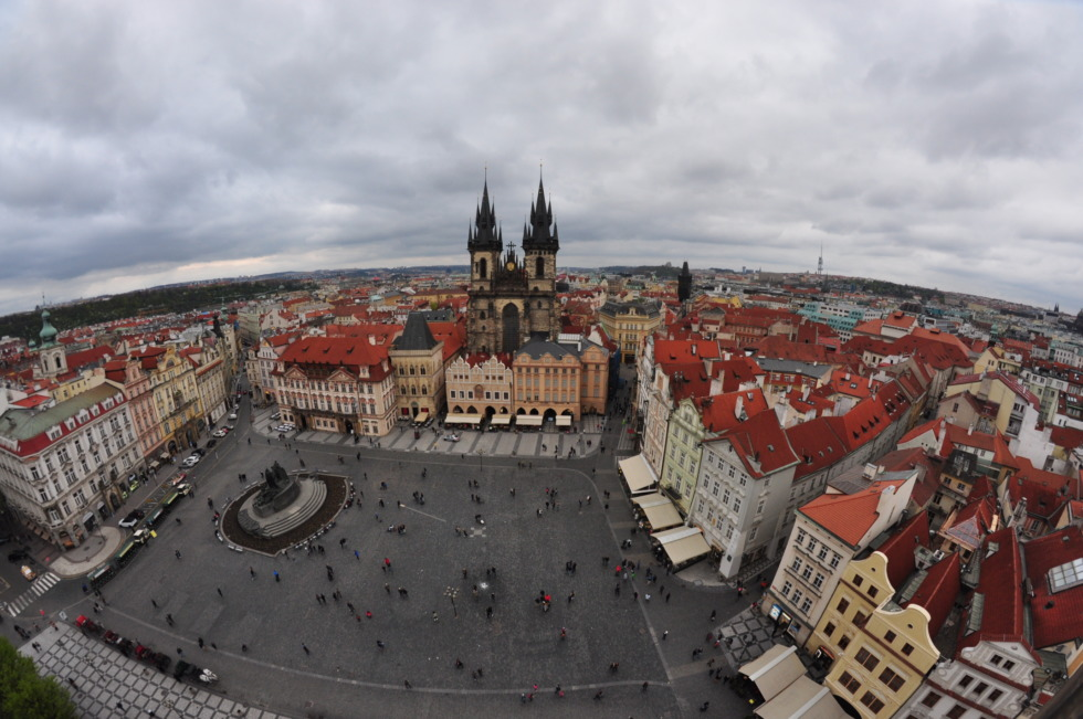 View onto Prague's market place