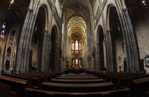 Nave bay of St. Vitus Cathedral in Prague