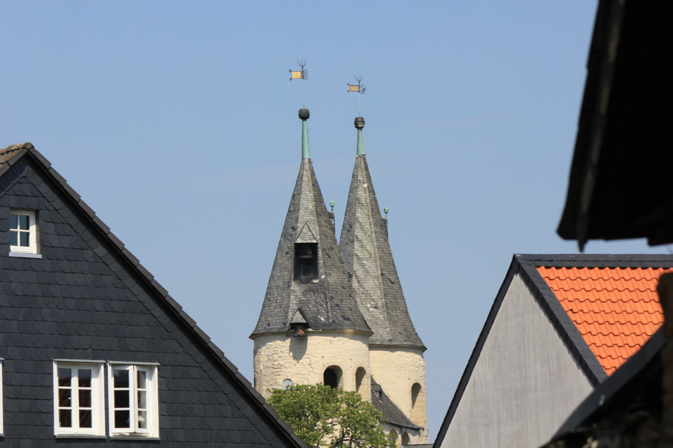 Towers of the Jakobi church in Goslar