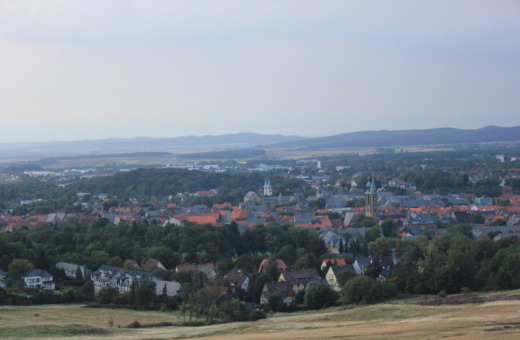 View onto Goslar city from the Rammelsberg