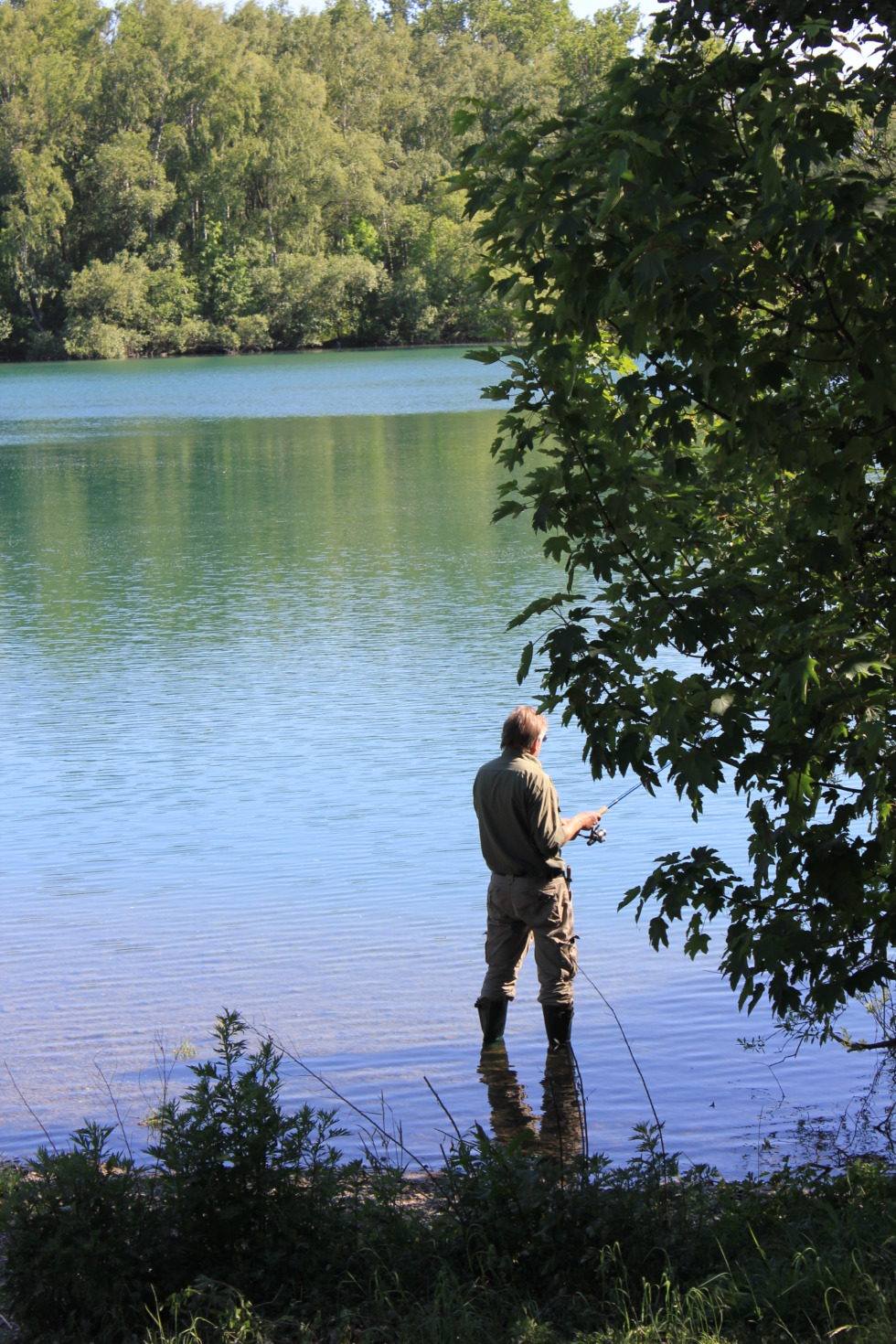 Angler in river
