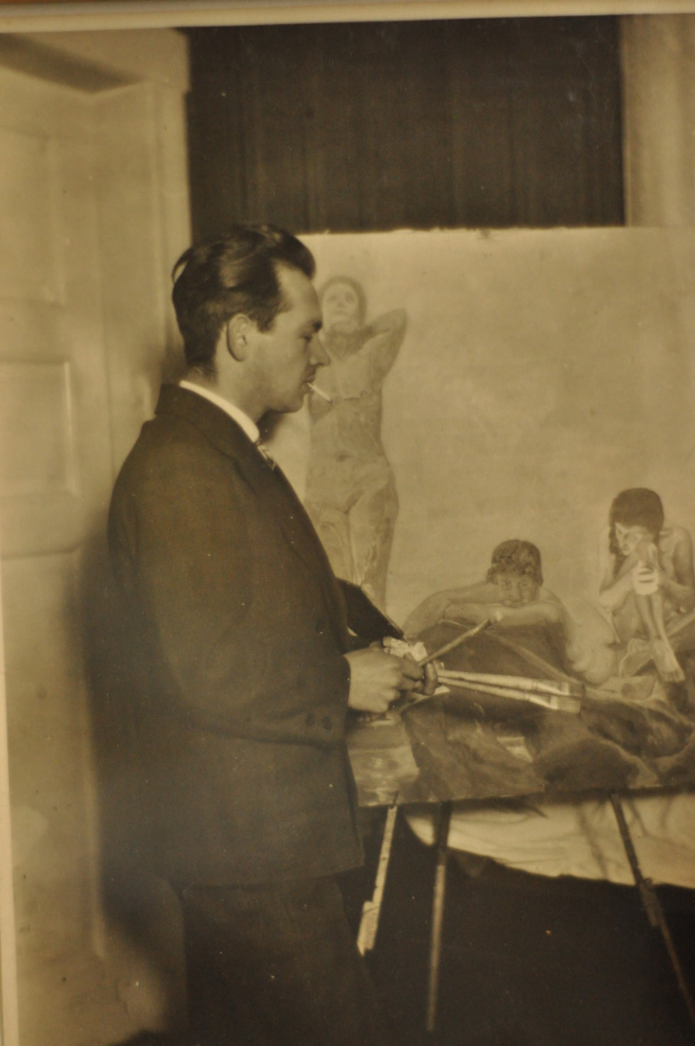 My great grandfather at his studio