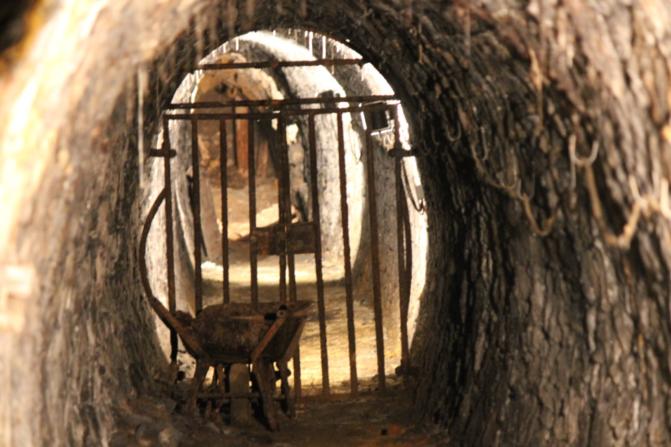 Vertical tunnel in Rammelsberg mine