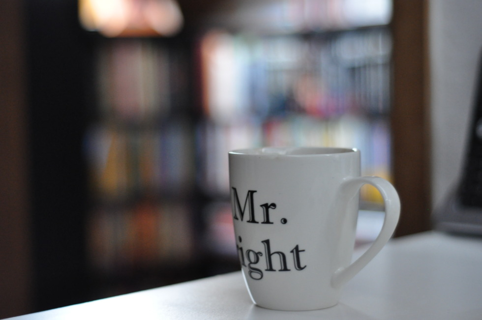 Coffee cup of Mr. Right