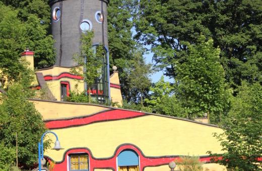 The Hundertwasser house in Gruga Park, Essen