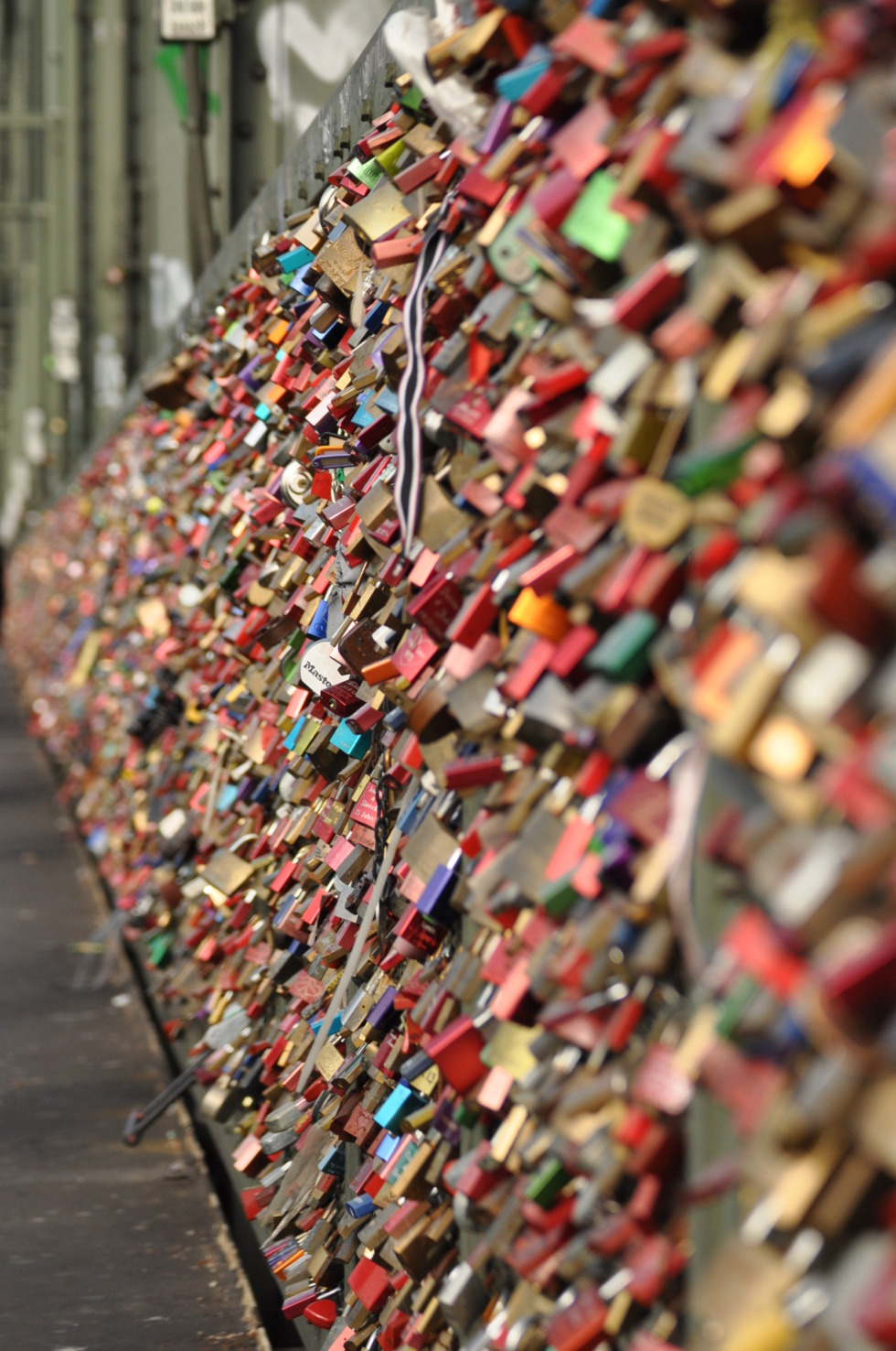 Love locks at Hohenzollern bridge in Cologne