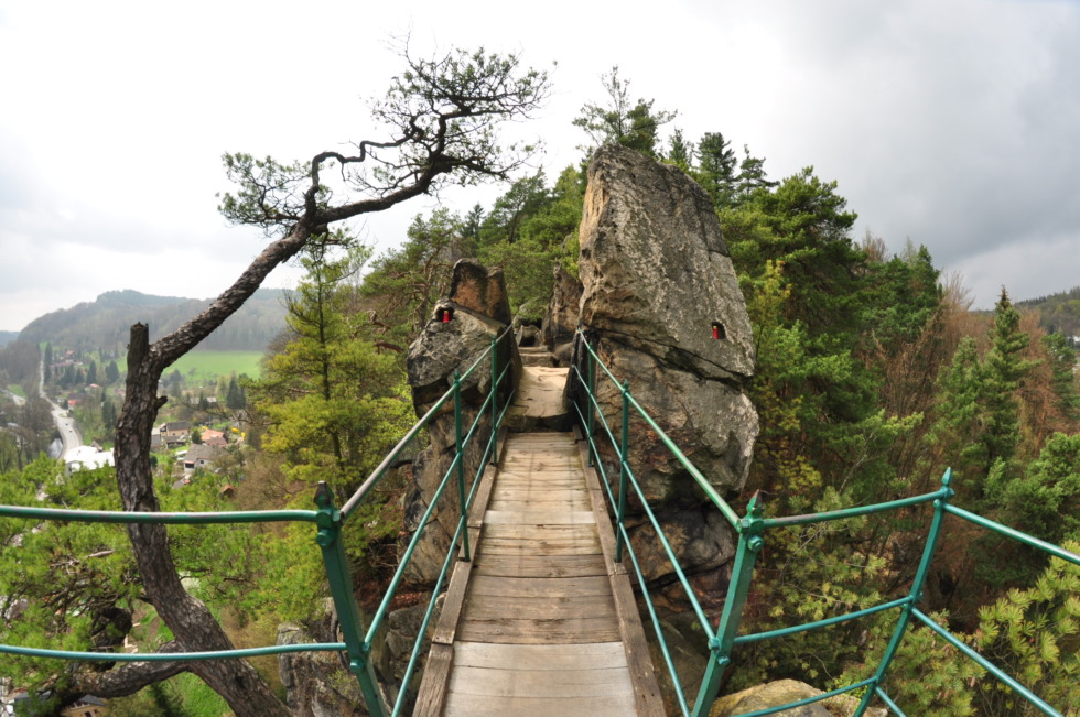 Small bridge between two rocks near Malá Skála