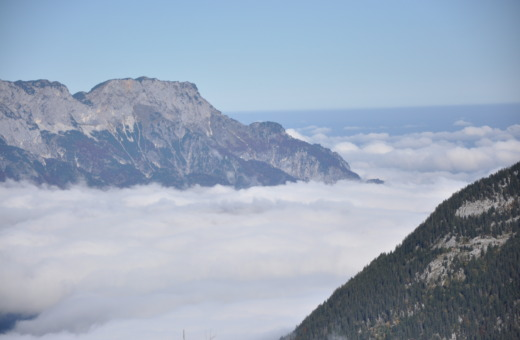 Above the clouds near Berchtesgaden