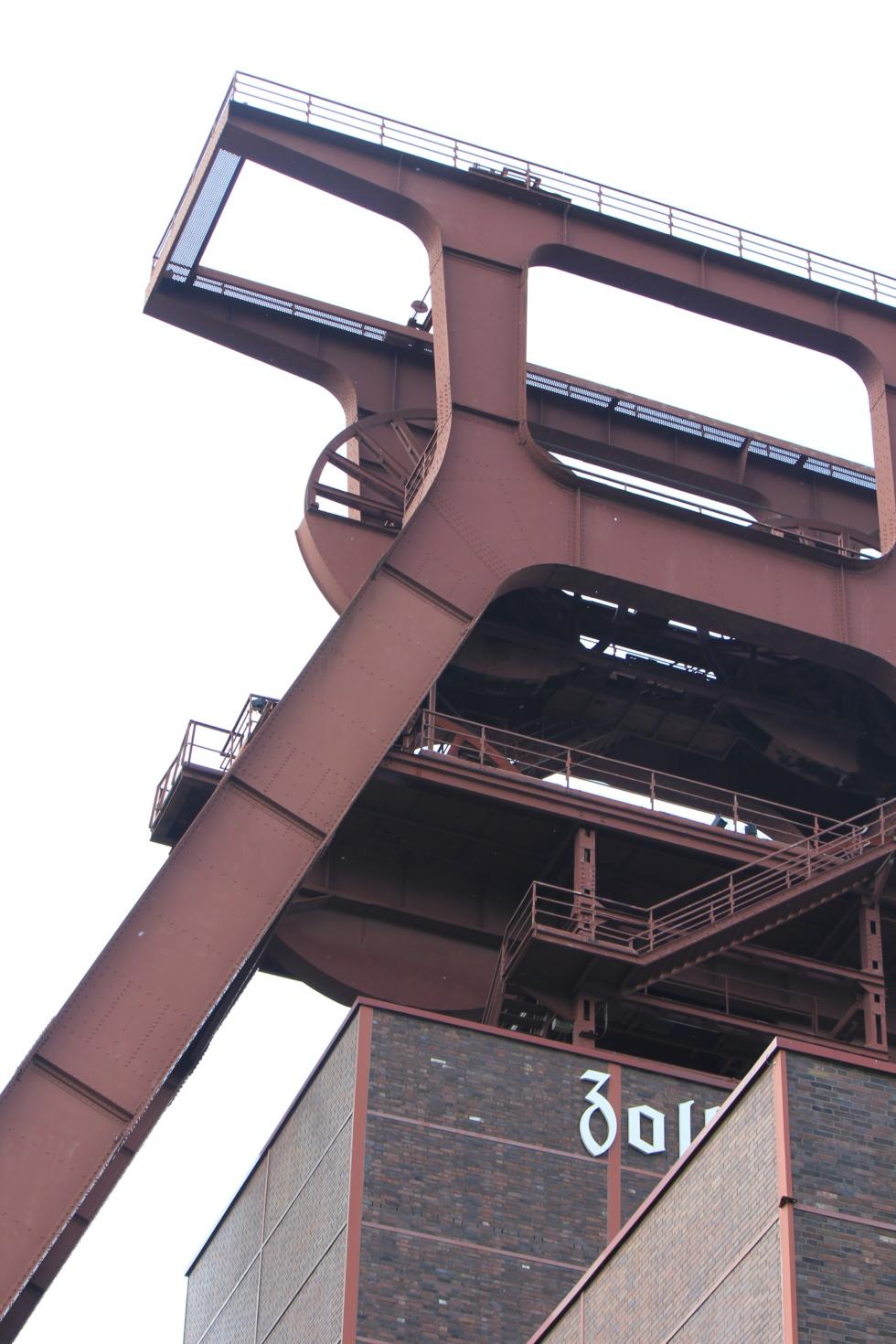 Huge headframe at Zeche Zollverein, Essen