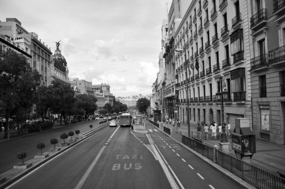 Streetview in Madrid
