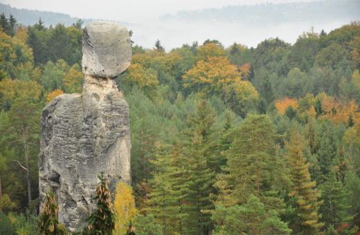 Rock formation at Bohemian paradise