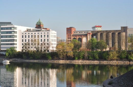 View into Dusseldorf's haven