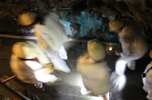 Busy workers in Rammelsberg mine