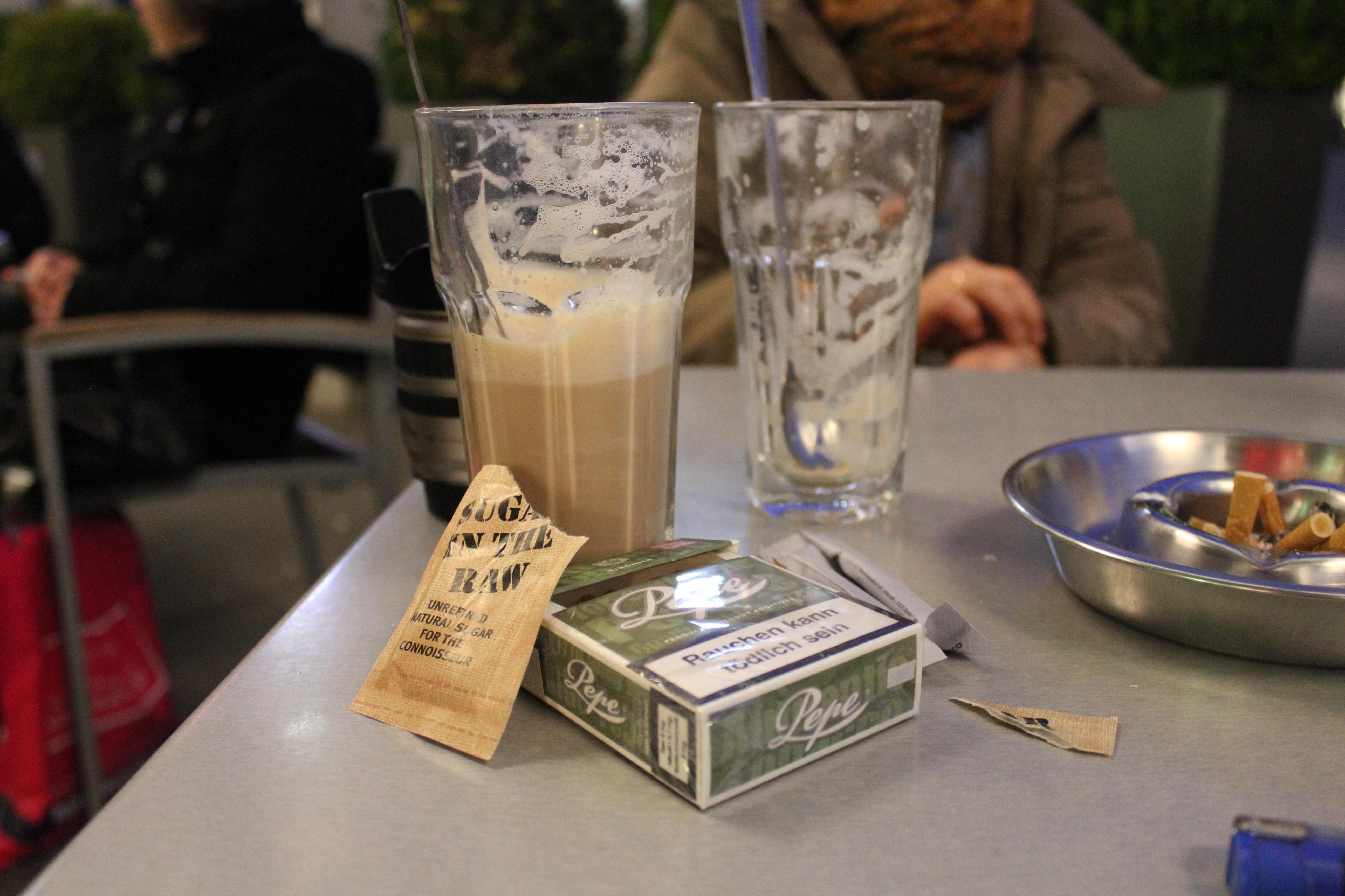 Latte Macchiato Brown Sugar And Pepe Cigarettes Cc0 Photo