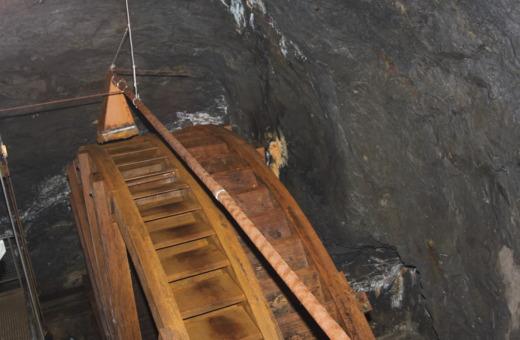 Old waterwheel in Rammelsberg mines