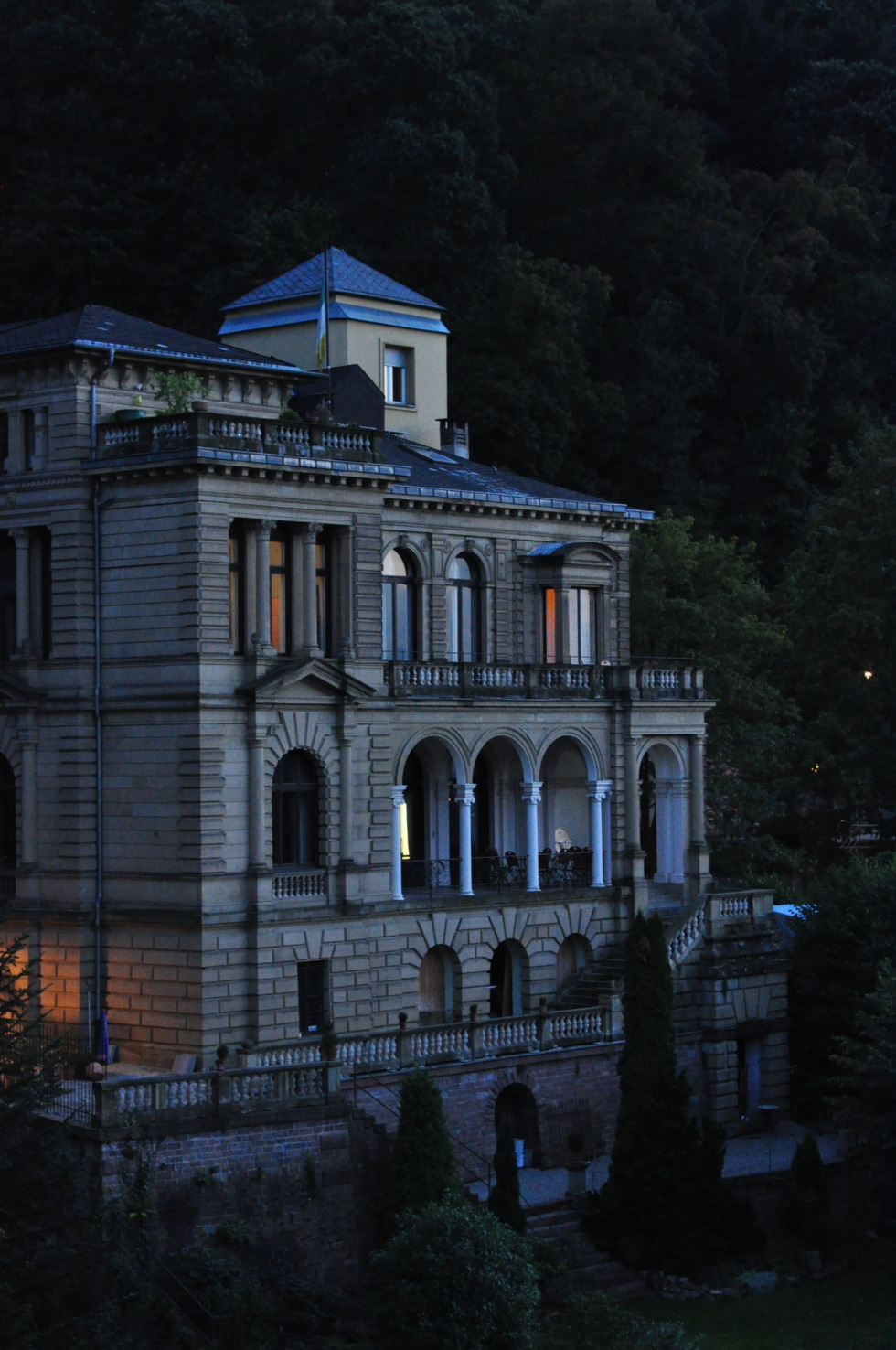Impressive mansion on Heidelberg's hillside