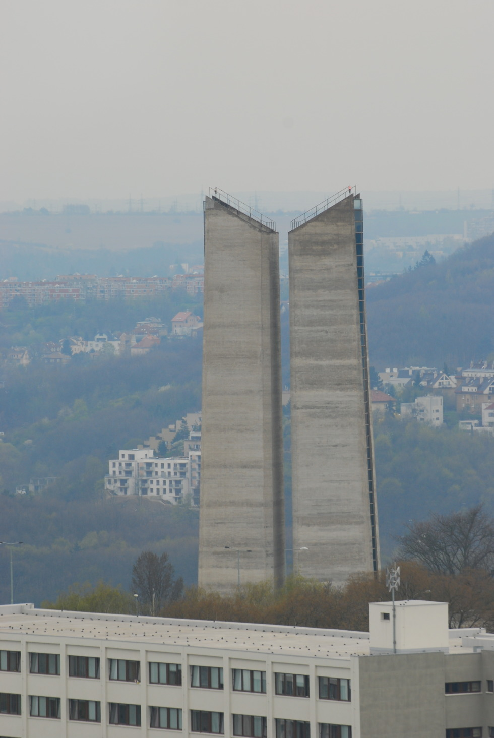 Ventilation tower for tunnel system in Strahov, Prague