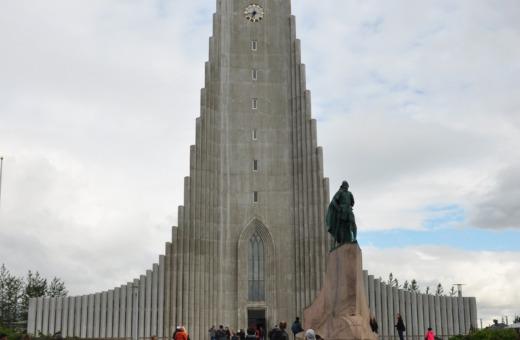 Hallgrímskirkja in Reykjavík, Iceland
