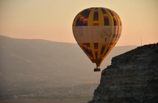 Hot air balloon in sunrise in Cappadocia